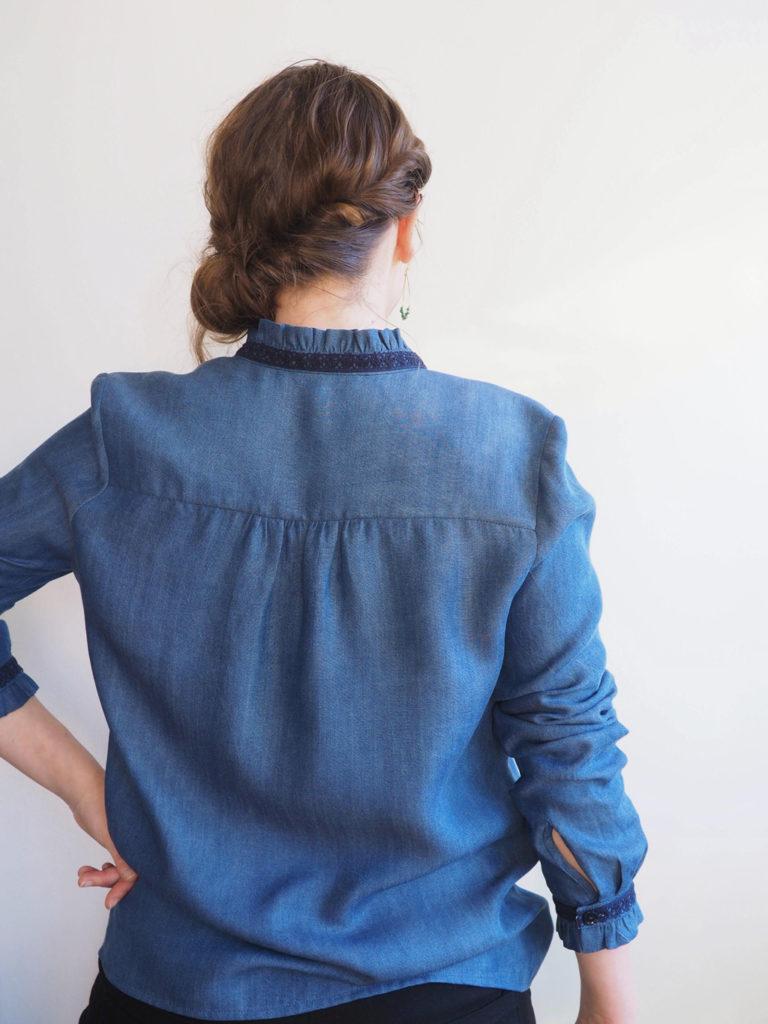 chemise Azur de dos
