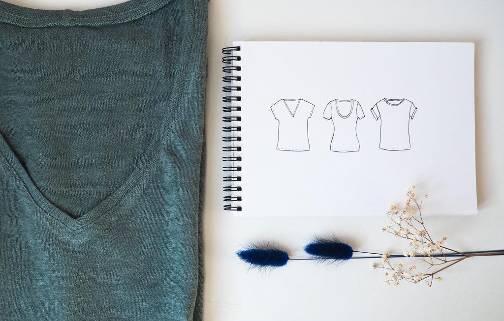 Inspirations t-shirts : modèles et tissus