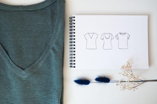 Inspiration t-shirts : modèles et tissus