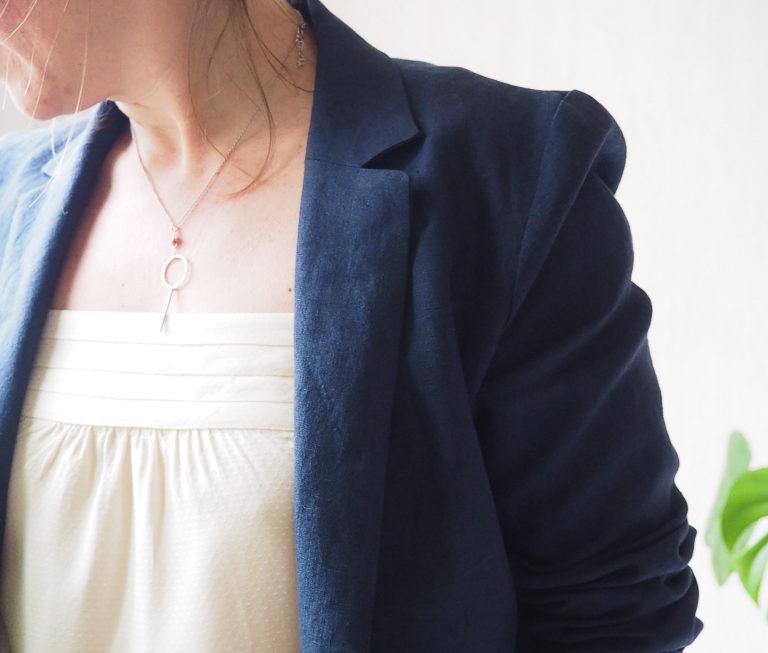 Une veste Françoise en lin