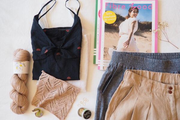 Journal de bord #6 : cousettes d'été, reprise du tricot et magazine couture